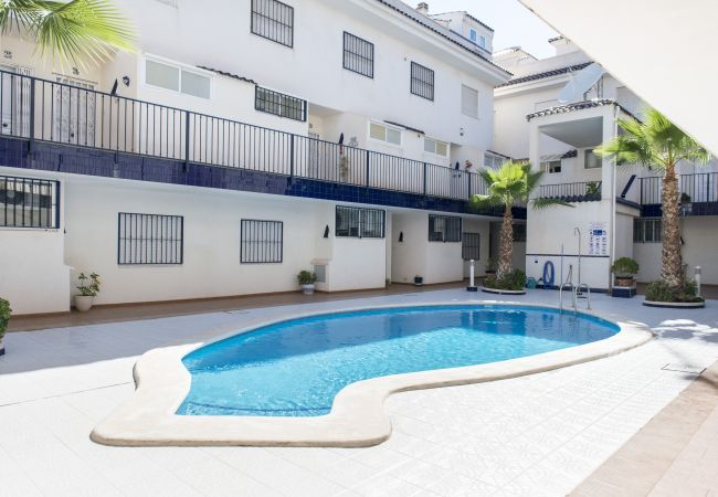 The apartments have access to the swimming pool and terrace. There is plenty of space to relax in the sun